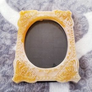 VTG Photo Frame Carved Resin Boho